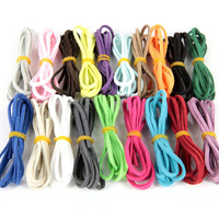 100pcs (10colorsx10pcs ) 2.7mmx1.5mm Multicolor Flat Faux Suede Velvet Leather Cord for Friendship Bracelet 1M/pcs