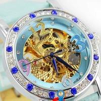 2014 Girlfriend GIFT  Automatic Mechanical Diamond Bracelet Wrist Watch for Fashion Watch Women vintage wristwatches
