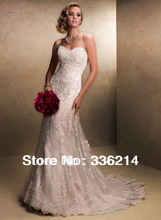 New White/ivory Lace Wedding Dress Custom Size 2-4-6-8-10-12-14-16-18-20-22+++++(China (Mainland))