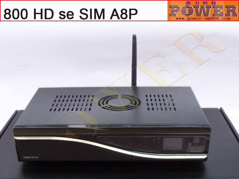 Sunray 800se HD dm800hd se degital sattelite tv receiver dvb s2 sim A8P support original software and 300M wifi Enigma2(Hong Kong)