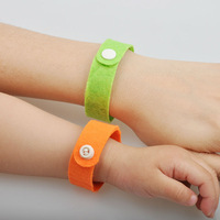 Eco Friendly Mixed colors  genuine Camping bangle lock on bugs Mosquito wrist band midge bracelet GREEN LUCK Mosquito band