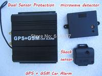 ROYALTEK Two Way SPY GPS Car Alarm High Sensitivity GPS Tracker Engine Start /STOP for Luxury Car Dual Detectors Protection