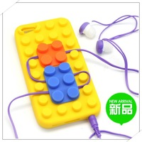 Creative toy bricks for  Duplo compatible with LEGO protective soft sillicon multi-color case for iphone 5