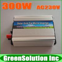 300W DC10.5~28V to AC180~260V Grid Tie Micro Solar Inverter Pure Sine Wave MPPT On Grid Inverters Used for 18V Solar Panels