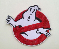 Sales promotion ! Ghostbusters iron on patch fabric clothes patch stickers  Embroidered  Badge  dropship 12pcs/lo