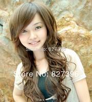 Wholesale Price Light Brown  Ladies' Stunning Long Wave Wig