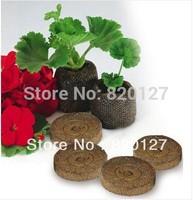 60pcs/lot, 30mm Jiffy Seed Starting Seeds Starting Plugs Professional Peat Soil Pallet-BIODEGRADABLE GARDEN SUPPLIES!