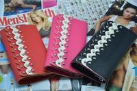 Handbag women clutch wallet pu leather purse bag luxury case fashion women lady wallets girl