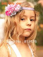 Baby girls Headband 2013 New style - pink girl - A variety of flowers combination 10pcs/lot Girls Headband
