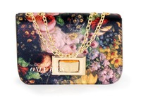 2013 New Retro flower painting chain Bao Xiaobao large shoulder bag women Bag Messenger Bag# 1501
