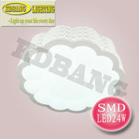 2 year warranty Taiwan CHIMEI smd 5630 chip 21W Modern led bedroom ceiling lamp acrylic mask freeshipping