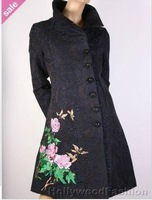 FREE SHIPPING Desigual Womens Black Coat Jacket sz:36/40/42/44/46 # black coat
