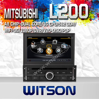 WITSON MITSUBISHI L200 Car DVD Player With GPS Navigation Super Fast A8 Chipset Dual-Core CPU:1GMHZ RAM:512M Free Shipping