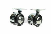 50mm Flat Zinc Alloy Rubber Caster Polyurethane Caster Wheel  Plastic Nylon PU Polyurethane Caster Wheel 110kg No Brake