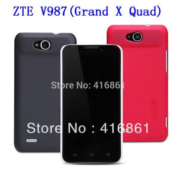 ZTE V987(Grand X Quad) V967S Genuine Nillkin Super Shield Shell Hard Case Cover Skin Back + Screen Protector For ZTE V987 /V967S