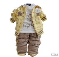 children's spring clothing T shirt top trousers child sports set,long-sleeve T-shirt ,pants three pieces1 set per lot