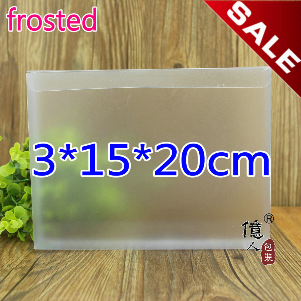 3*15*20cm frosted pvc box / package boxes / file container / customized product / plastic box(China (Mainland))