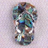 Pretty 35x22MM New Zealand Abalone Shell Bead Pendant Jewelry Free shipping S174