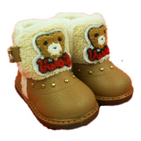 2013 hot sale boys and girls children boots baby snow boots baby winter shoes cotton-padded shoes ankle boots infant shoes
