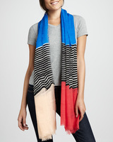 (Min Order Is $20) Scarf,Linescape Hanover Scarf ,4 Color,180*110cm,2013 New Arrival,Free Shipping Wholesale