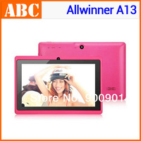 cheap tablet pc Ultra-thin Q88 Allwinner A13 7 inch android 4.0 4GB ROM Capacitive Screen WIFI Dual camera no GPS Free shiping