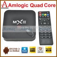 1pc Rooted Original MXIII  XBMC TV Box 2G/8G Amlogic S802 Quad Core 4 Cortex A9  Android 4.4 Dual Wifi 2.4G 5G Bluetooth 4K HDMI