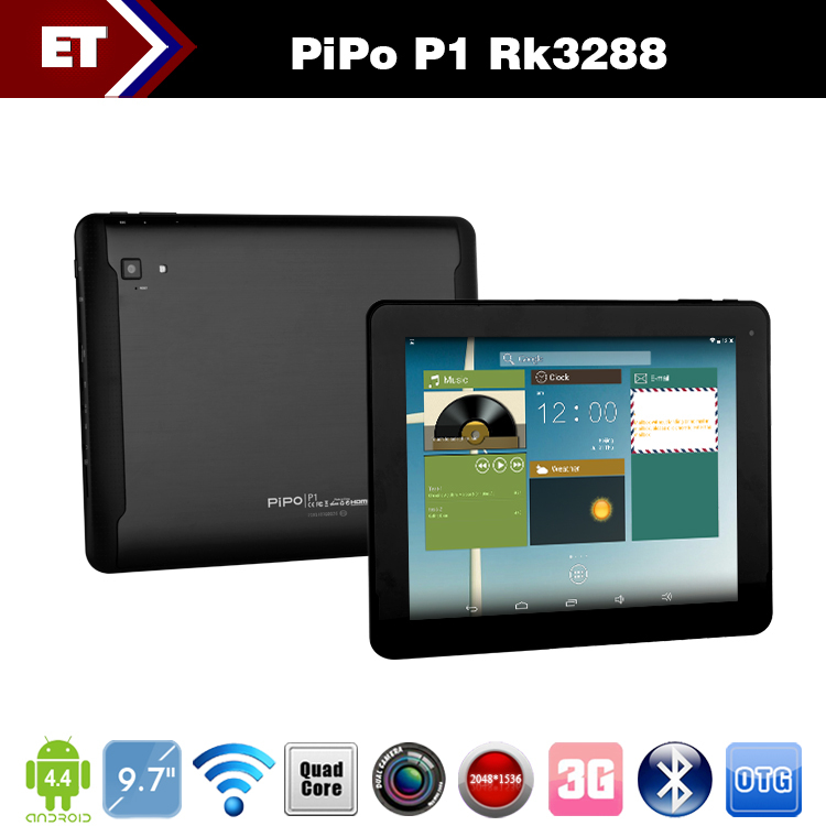 Original 9.7 Inch PiPO Pad P1 IPS 10 Touch Screen RK3288 Quad Core Tablet PC Android 4.4.2 Dual Cameras 2GB Ram Bluetooth GPS(China (Mainland))