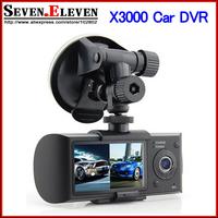 In stock! Original X3000/R300 Car DVR Full hd with GPS logger G-Sensor Dual lens 2.7 inch LCD Camera Video recorder