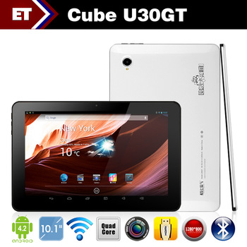 Cube U30GT RK3188 Quad Core 1.6GHz tablet pc 10.1 inch HD 1280x800 pixels Bluetooth HDMI Dual Camera Android 4.2