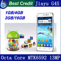 """in stock! jiayu g4 G4c mtk6589T 1.5Ghz quad Core JY G4 3G 13MP 4.7"""" IPS Gorilla Screen phone G4S MTK6592 octa core 1.7Ghz/Eva"""