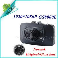 """GS8000L Car dvr Novatek chipest 100% Original Glass Lens 1920*1080P 25fps IR Night Vision 2.7"""" LCD with G-sensor gs8000"""