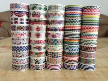 1360 pattern free shipping Promotion -- Colorful Printing Washi masking Tape  Printing adhesive Tape for DIY