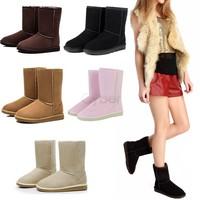 HOT !! Unisex Women Men Winter Snow Boots Fashion Half Warm Boots Shoes 6Colors 18795