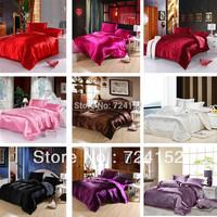New arrival!Queen&King size 4pcs Imitation silk bedding set.bed linen bedclothes.bedspread/bed sheet /duvet cover textile