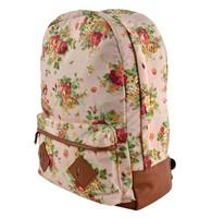 Wholesale 4Pcs/Lot Canvas Backpack College New Fashion Girls' School Bag Flowers Women Rucksack Schoolbag 15934 B19