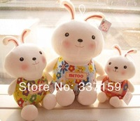 Free shpping 20cm soft plush toy cute small metoo bunny cloth doll rabbit doll new year gift  birthday gift easter gift