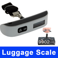 1pcs Digital Travel Weighing Scale Portable Hanging luggage Scale with Hook Strap 50kg 110lb