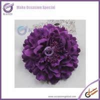 Free Shipping 50pcs purple colour simulation Rose Flowers10.5cm Big Flower for chair cover wedding party banquet decoration