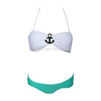 2015 Hot Padded Bikini Set Girl's Bandeau Swimwear Halter Swimsuit Women Bathing Suit Biquini 1191