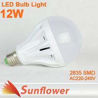 6pcs/lot High brightness led bulb lamp E27 B22 2835SMD 4W 6W 9W 12W 220V lighting for indoor warm /Cold white Free shipping