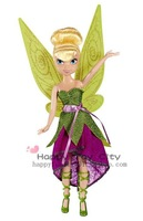 "Fairies 9"" Sparkle Party Doll,Tinkerbell/Vidia/Silvery Mist/Rosetta/Periwinkle, dolls for girls"