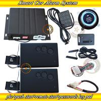 cardot new smart car alarm,identification recognized ,smart keys,remote start/stop engine,push start/stop button,2 PKE antennas