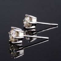 1 CT 18k White Gold Moissanite Earrings Stud for women Wedding test as real Moissanite earrings engagement Jewelry for women
