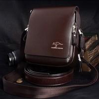 Retro fashion kangaroo brand bags,leather computer bag,briefcases,men messenger bag,2 color,size 6 optional,wholesale and retail