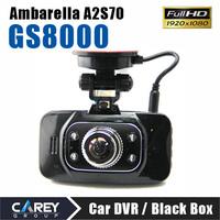 Original GS8000  2.7 inch LCD Screen Full HD 1080P 5M COMS Sensor 170 degree CAR DVR camera