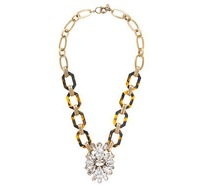 2013 fashion accessories new arrival JC Luxury Jewelry Leopard  TORTOISE AND CRYSTAL PENDANT Statement Necklace  OEM wholesale