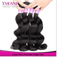 3 Bundles Peruvian Hair Loose Wave,100% Raw Virgin Human Hair Weave,12-28Inches Aliexpress Yvonne Hair,Natural Color