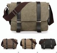 Hot new men's Korean version of the retro canvas bag, fashion casual shoulder bag Messenger bag wholesale, free shipping