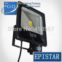 10W  20w 30w 50w led flood light  new type  85~265V black shell  PIR Motion sensor Induction Sense lamp