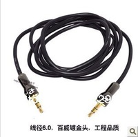 1.5M 3.5mm Jack Male to Male Plug stereo Aux Audio Cable for IPod iphone Mp3 Mp4 Players Colour White Free Shipping